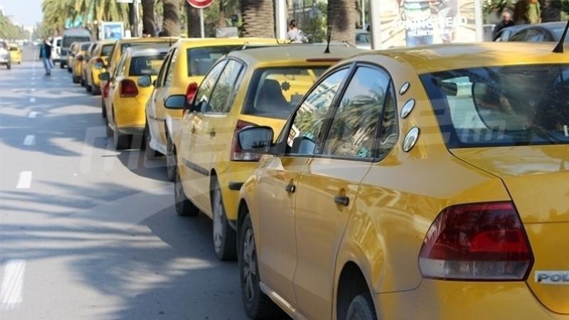 سائقوسيارات الأجرة بالقيروان يحتجون أمام وزارة النقل