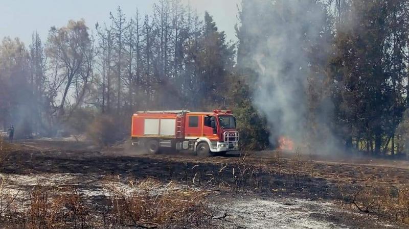 بني خلاد: حريق يأتى على أربع ضيعات