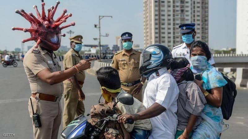 حوالي مليون إصابة بفيروس كورونا في الهند