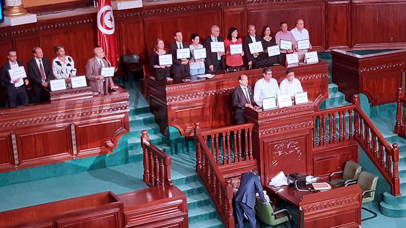 تعطّل أشغال الجلسة بعد اعتلاء موسي منصة رئاسة المجلس