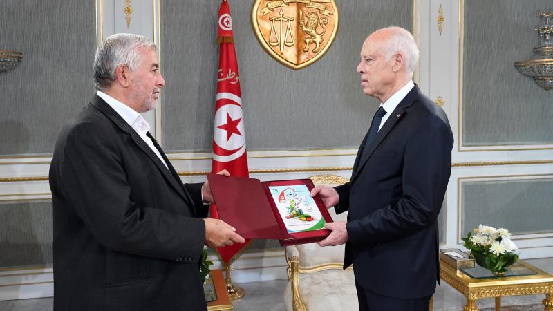 سعيد يستقبل رئيس الاتحاد التونسي للفلاحة والصيد البحري