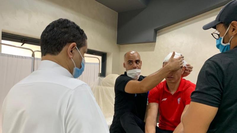 كريم العواضي يتعرّض لإصابة على مستوى الرأس