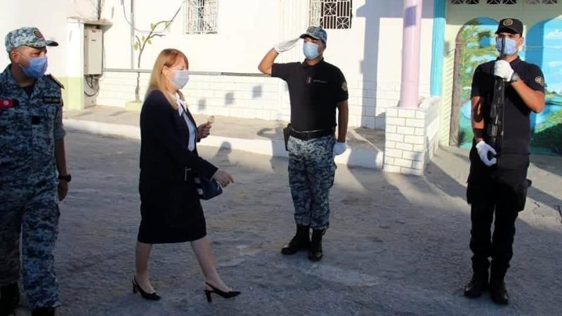 وزيرة العدل تزور السجن المدني بالمنستير بمناسبة العيد