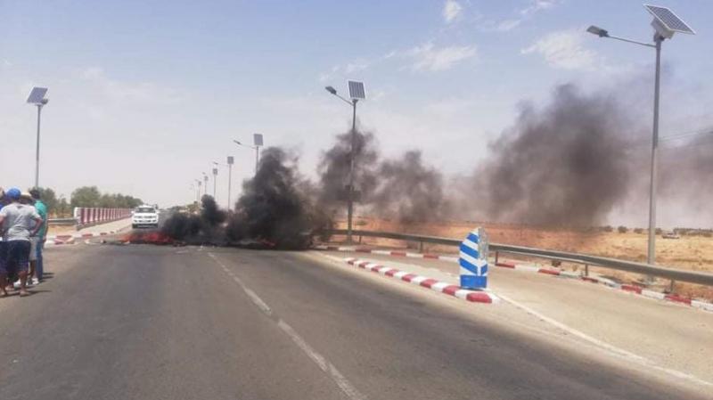 أزمة 'العطش' في تطاوين: احتجاجات وقطع الطريق