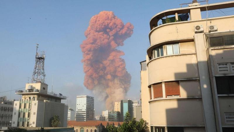 انفجار عنيف يهز العاصمة اللبنانية بيروت