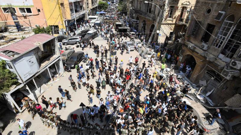 احتجاجات ساخنة في بيروت للمطالبة باستقالة الحكومة