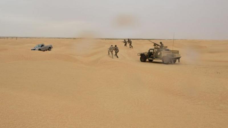 تطاوين: إصابة عسكري في تبادل إطلاق نار بين مهربين والجيش
