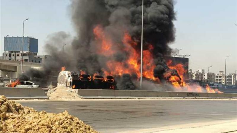 مصر: إحتراق 7 سيارات في حادث مرور