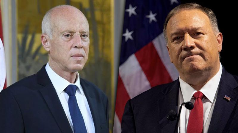 خلال اتصاله بسعيد.. بومبيو يؤكد إستعداد الولايات المتحدة لدعم تونس