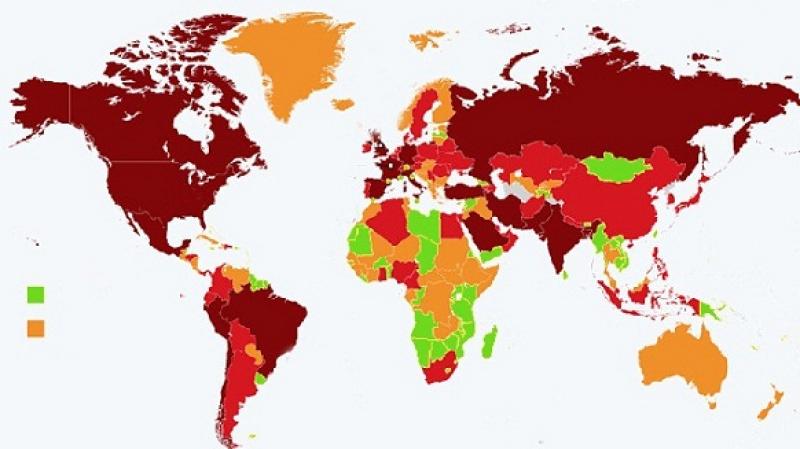 فرنسا وبلجيكا وايسلندا.. من الأخضر إلى البرتقالي
