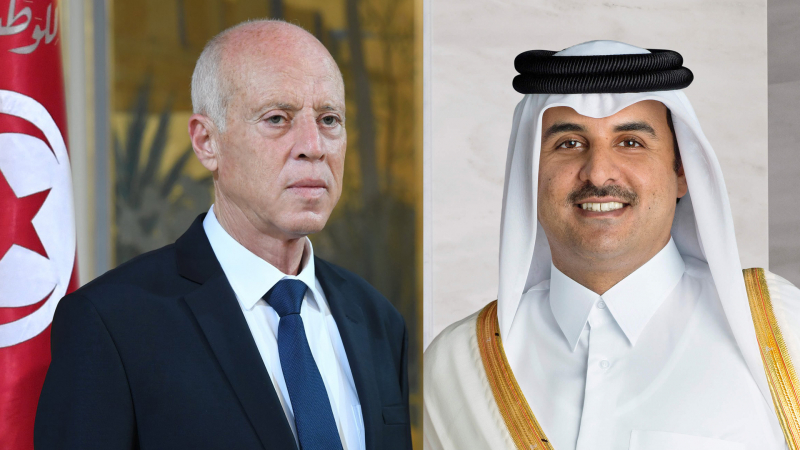 أمير قطر يؤكد لرئيس الدولة استعداده لتمويل منصة الإنتاج بسيدي بوزيد