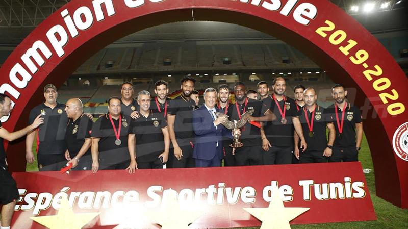 الترجي الرياضي التونسي يتسلّم رمز البطولة الـ 30