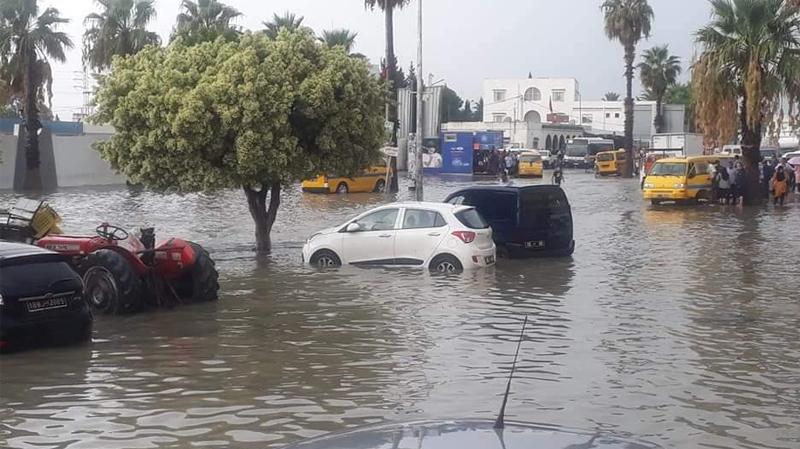 سليمان: الأمطار تتسرب الى بعض المنازلوالحماية تتدخل