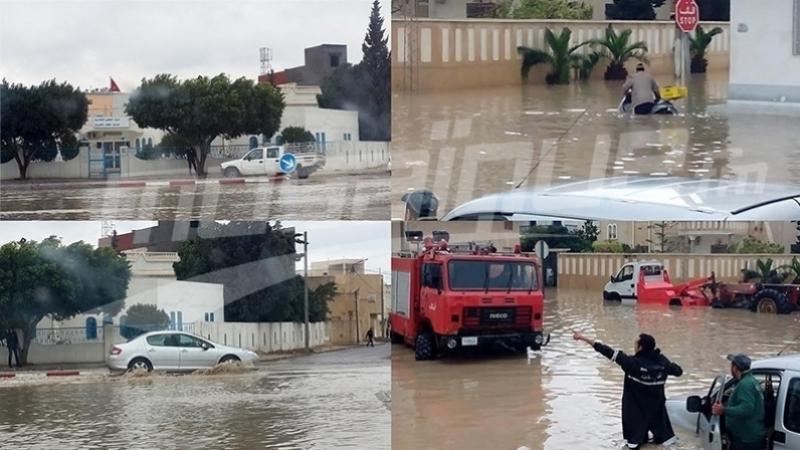 فيضان أودية وتسرّب مياه إلى المنازل.. الحماية المدنية تتدخل
