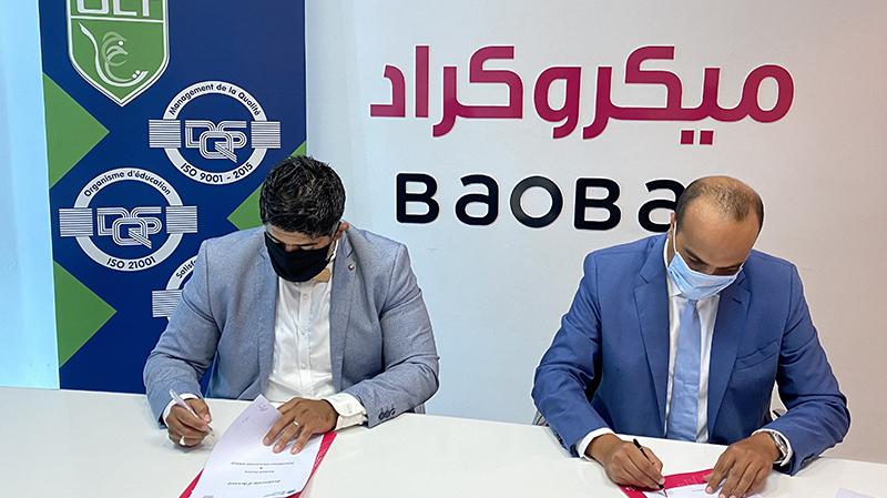 اتفاقية شراكة بين مؤسستي 'ميكروكراد' وبوعبدلي التربوية