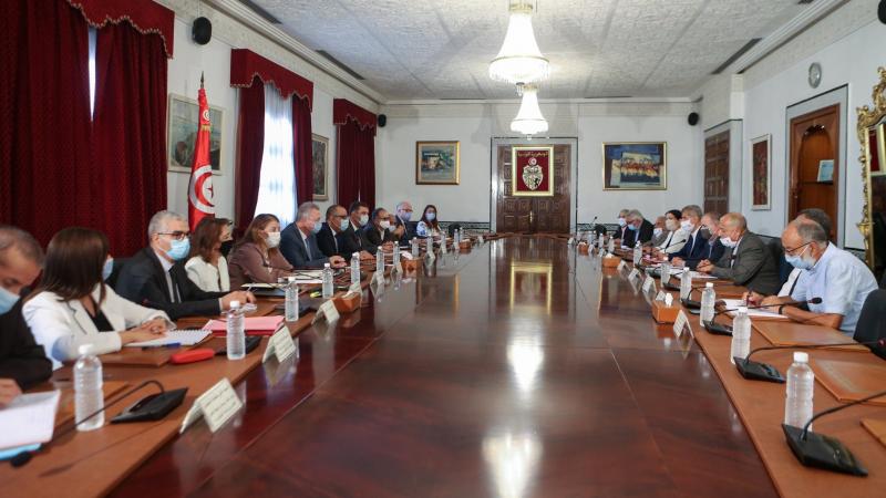 أول جلسة حوار بين حكومة المشيشي وقيادة المنظمة الشغيلة