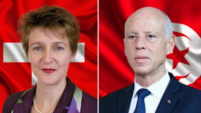 سعيّد يتباحث مع رئيسة الكنفدرالية السويسرية حول ملف الأموال المنهوبة