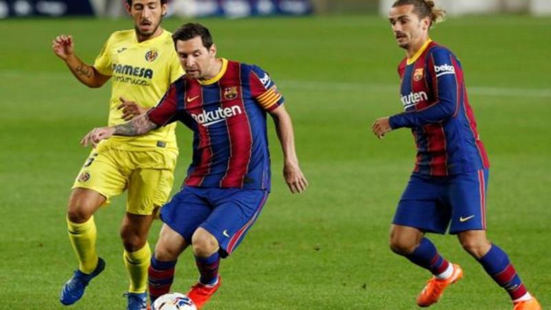برشلونة يكشر عن انيابه مبكرا برباعية في شباك فياريال