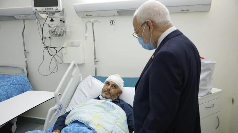 الغنوشي يعود النائب أحمد موحى بالمستشفى العسكري