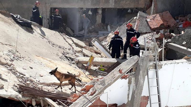 حي الزهور: إنفجار قارورة غاز والبحث عن مفقودين تحت الأنقاض