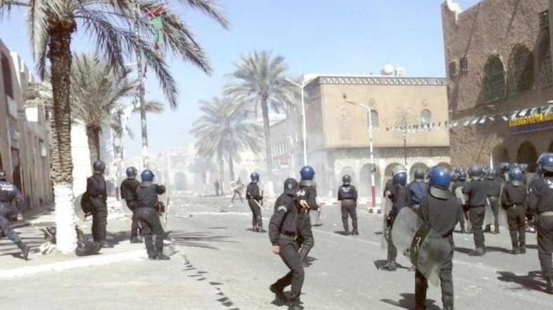 مواجهات عنيفة بين عسكريين سابقين والشرطة الجزائرية