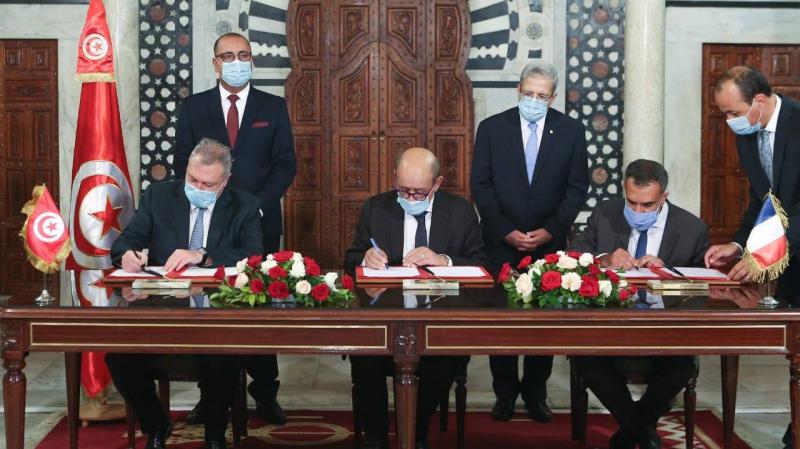توقيع اتفاقية تمويل بين تونس وفرنسا بقيمة 350 مليون أورو