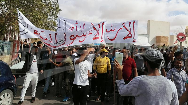 تطاوين: عدد من الأهالي يخرجون في مسيرة  تحت شعار''فداك يا رسول الله''