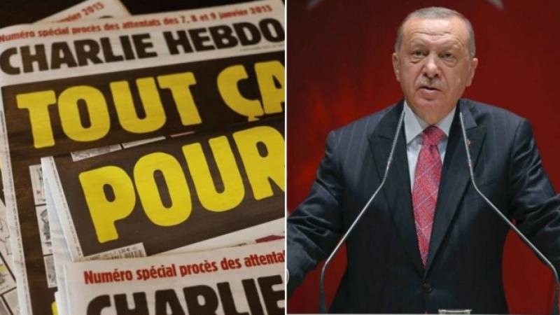 أردوغان يتقدّم بشكوى ضد ''شارلي إيبدو''