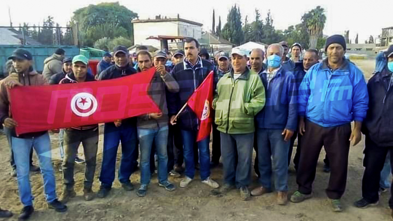 عمال واطارات شركة التنمية للشمال ببوسالميحتجون