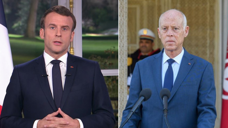 سعيّد لماكرون: البعض يريد إرباك المجتمع الفرنسي والإسلام براء منهم