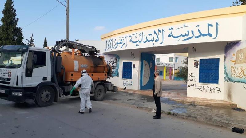 بلدية تونس تشرع في تعقيم المؤسسات التربوية