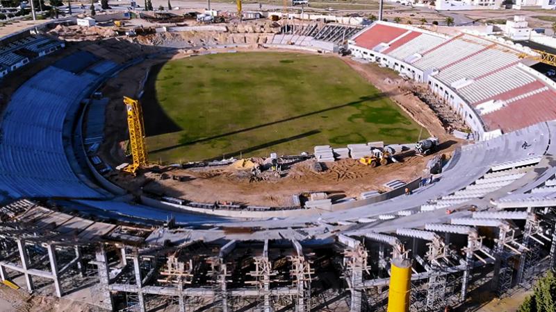توقف أشغال ملعب سوسة :وزارة الرياضة في قفص الإتهام