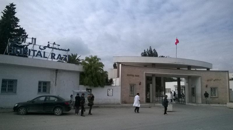فرار شاب أضرم النار في حافلتين من مستشفى الرازي