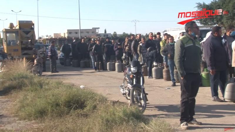 القيروان: غلق الطريق واكتظاظ مروري بسبب الغاز المنزلي