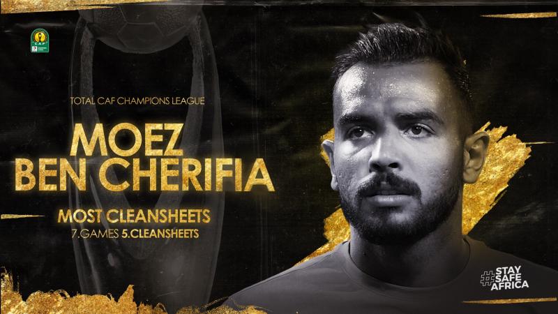 معز بن شريفية أفضل حارس في رابطة الأبطال الإفريقية