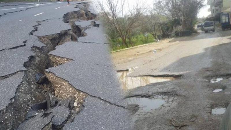 على شبكة الطرقات:  84 ألف متر مربع من الحفر للإصلاح