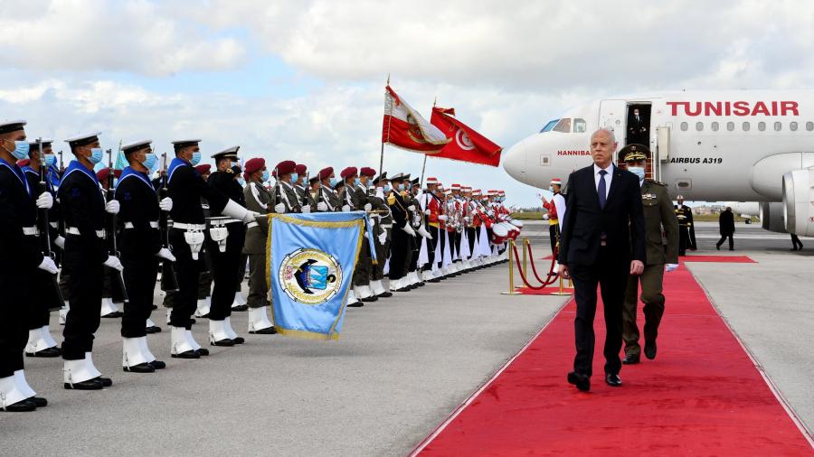 رئيس الجمهورية يصل تونس قادما من ليبيا