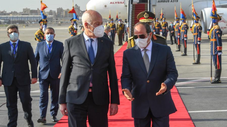 السيسي: عبرنا لقيس سعيد عن استعدادنا للتعاون الاقتصادي ومكافحة الارهاب