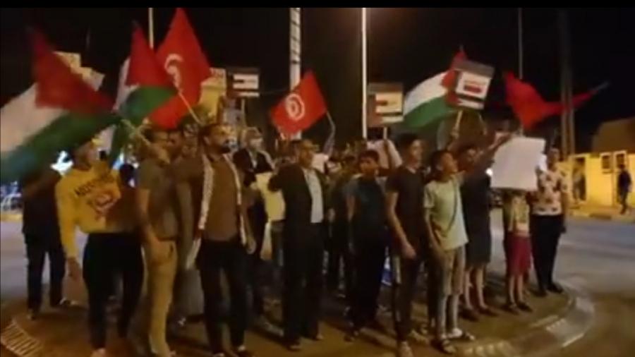 تطاوين: مسيرة شعبية ليلية نصرة للقدس
