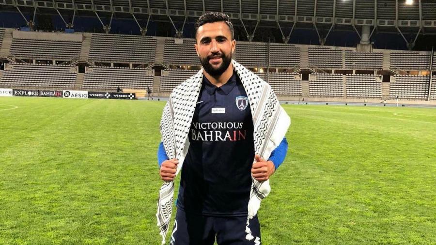 العابدي يسجّل لباريس أف سي ويدعم القضية الفلسطينية