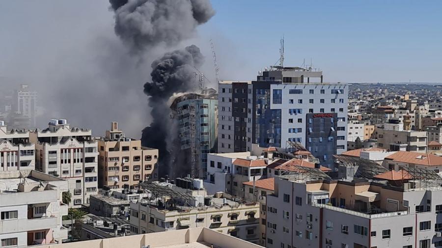 بلينكن: واشنطن طلبت''مبررا''لضرب برج يضم مؤسسات إعلامية في غزة