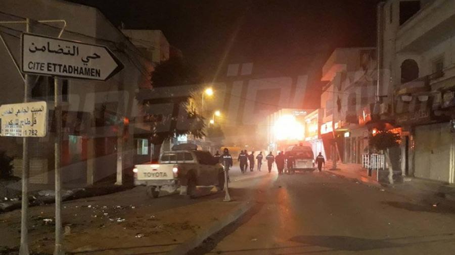 مواجهات بين الأمن ومحتجين في حي التضامن والانطلاقة