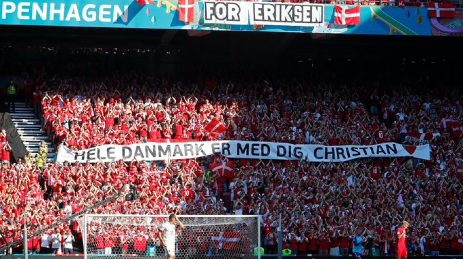 إيقاف مباراة الدنمارك وبلجيكا لتكريم إريكسن