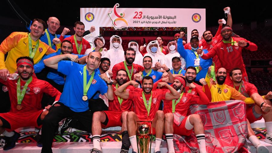 كرة اليد: صفَر والحاج يوسف يُتوّجان ببطولة آسيا للأندية البطلة