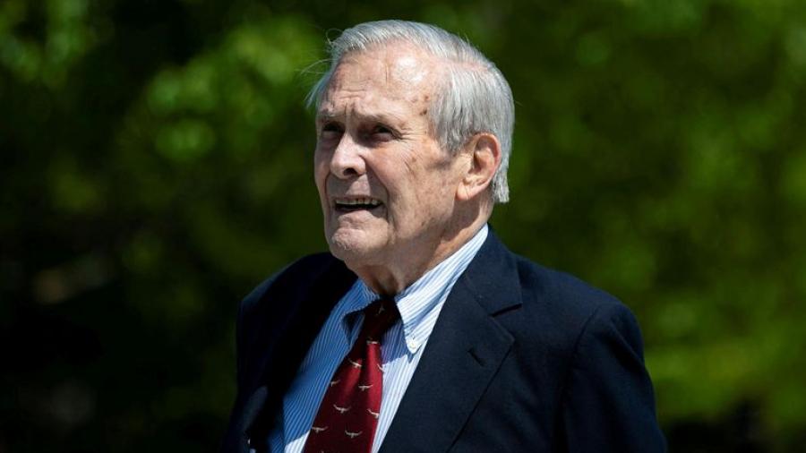 وفاة وزير الدفاع الأميركي السابق دونالد رامسفيلد عن 88 عاما