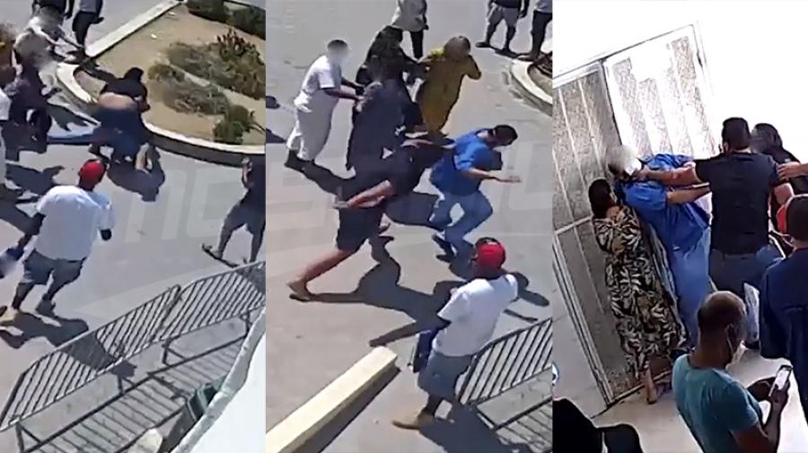 مستشفى الياسمينات: كاميرا المراقبة توثّق اعتداء بالعنف الشديد على طبيب