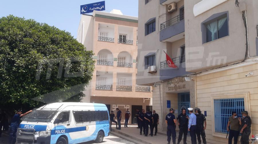 الأمن يطوّق مقر حركة النهضة في سوسة