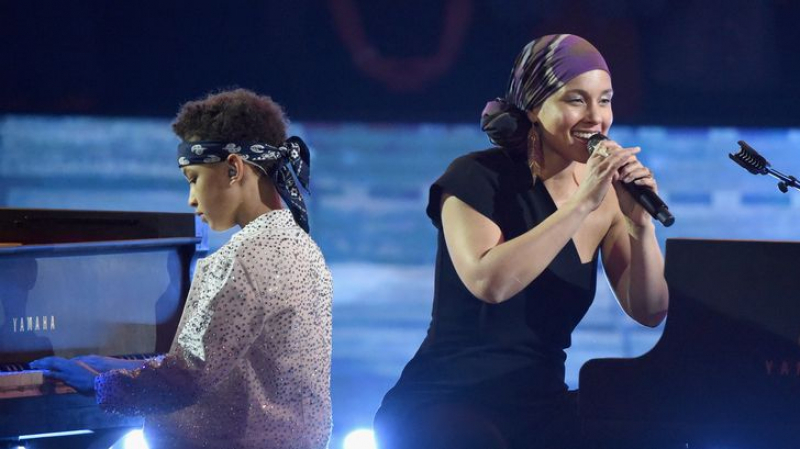 Alicia Keys et son fiston font leur show
