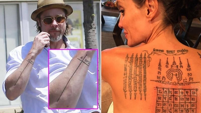 Pour Oublier Angelina Jolie Brad Pitt Retire Ses Tatouages