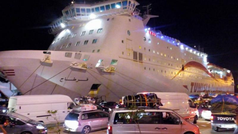 Visite de contrôle pour l arrivée du navire carthage au port de zarzis